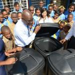 Garbage receptacles donated to Dunrobin Primary School