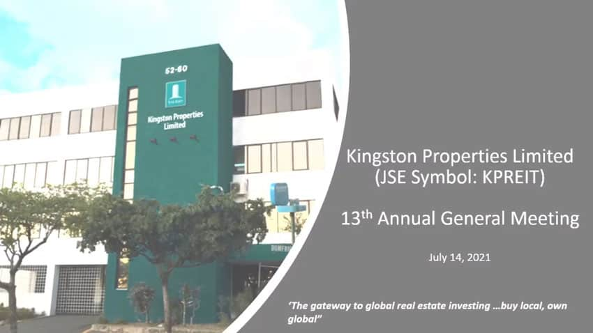 Kingston Properties Limited 13th Annual General Meeting