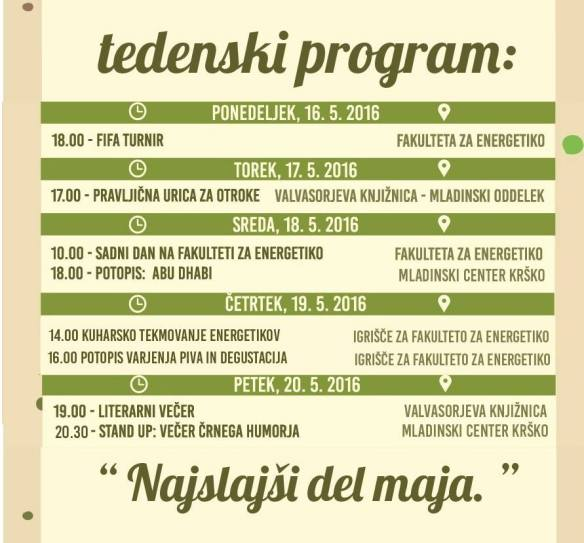 TEDENSKI PROGRAM