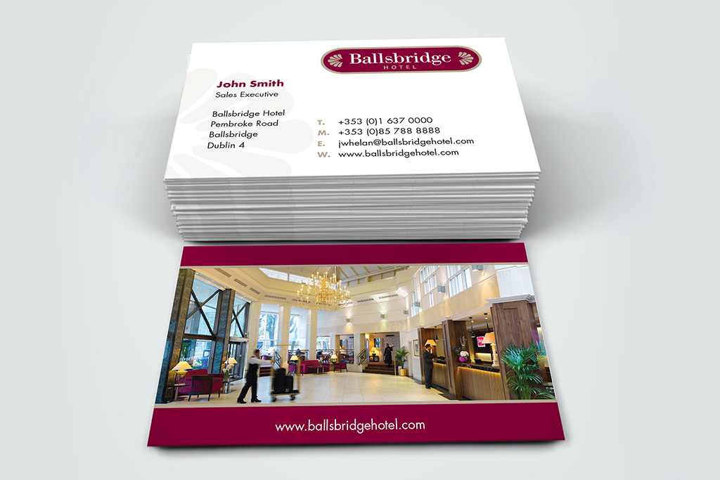 Ballsbridge Hotel - Business Cards
