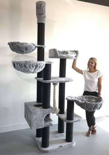 rhrquality-krabpaal-catdream-de-luxe-blackline-light-grey