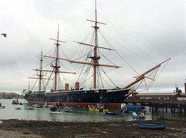 Museumsschiff in Portsmouth