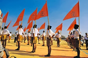 Nationalist RSS - Bhagwa flag
