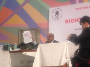 Pic courtesy- kractivist.org Acting Chairperson getting angry at Maharashtra state dept for misleading the NHRC hearing