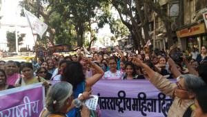 Mumbai- International women day march 8,2016 dadar rally