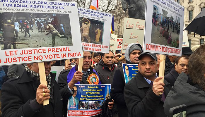 Dalits march in London protesting atrocities in India