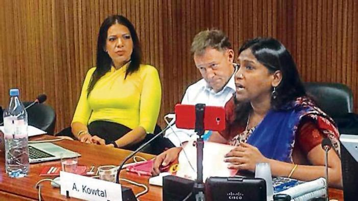 Dalit women's collective presents report on caste-based violence against women at UNHRC