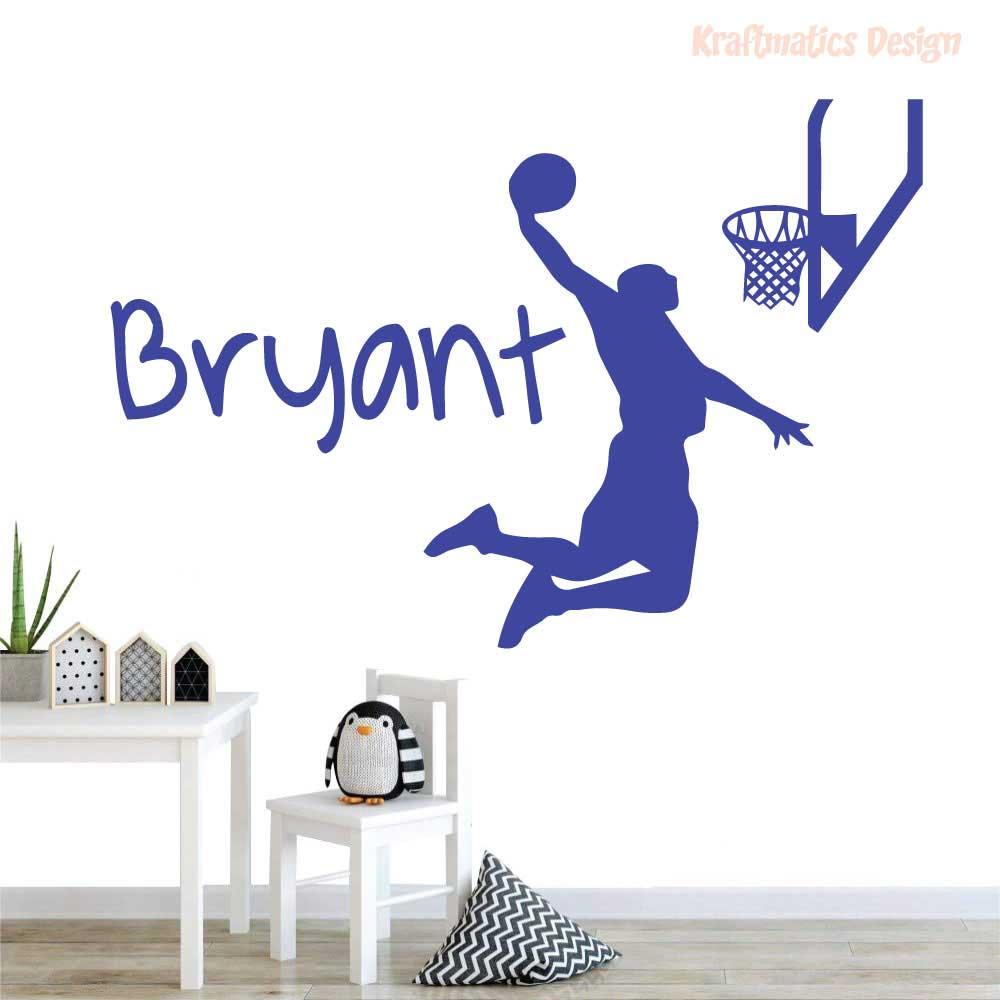 Basketball Player Silhouette Sport Wall Decal Vinyl Sticker Krafmatics