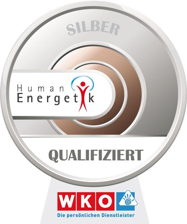 WKO persönliche Dienstleister Silber Siegel Qualifiziert Humanenergetik Energiearbeit