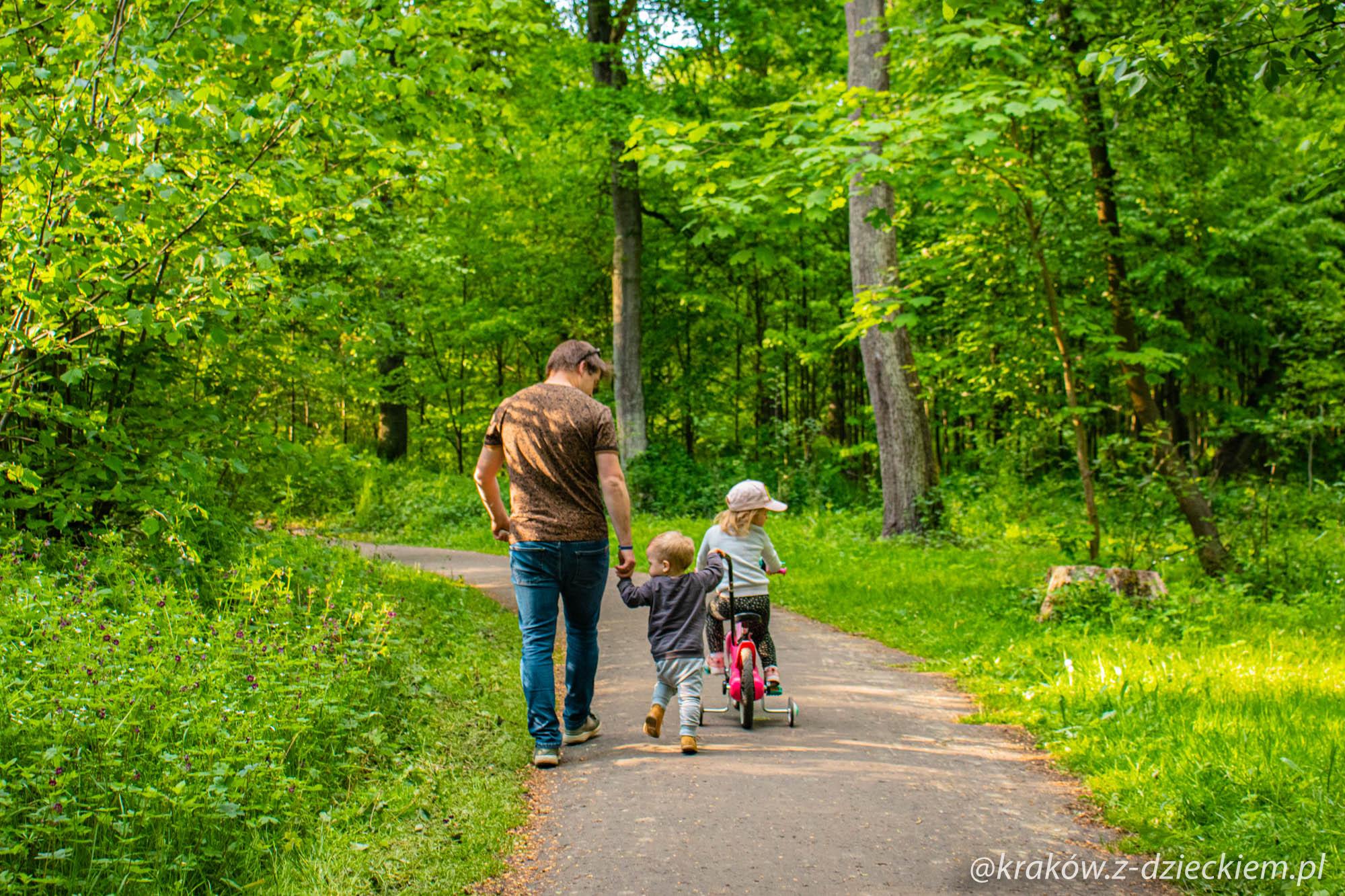 spacer z dziećmi las
