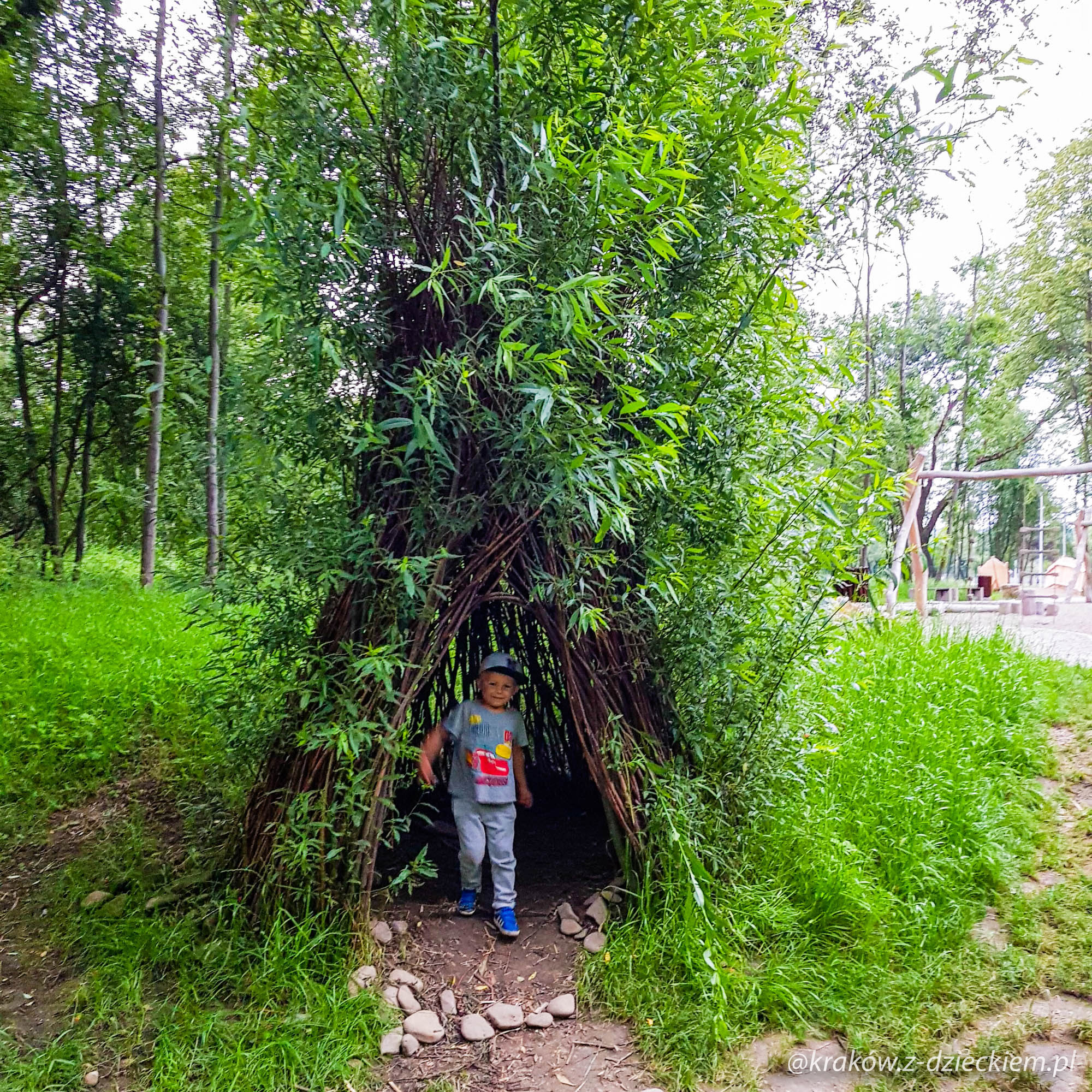 domek dla dzieci, leśny plac zabaw w Dobczycach