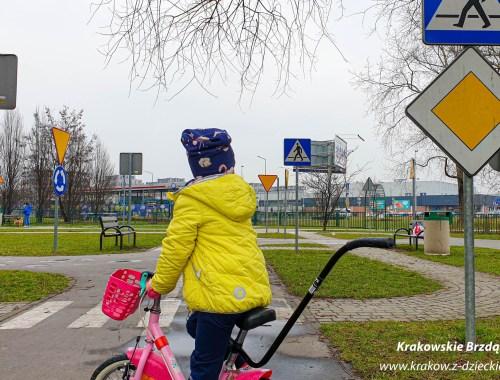 rowerowe miasteczko ruchu drogowego Czyżyny