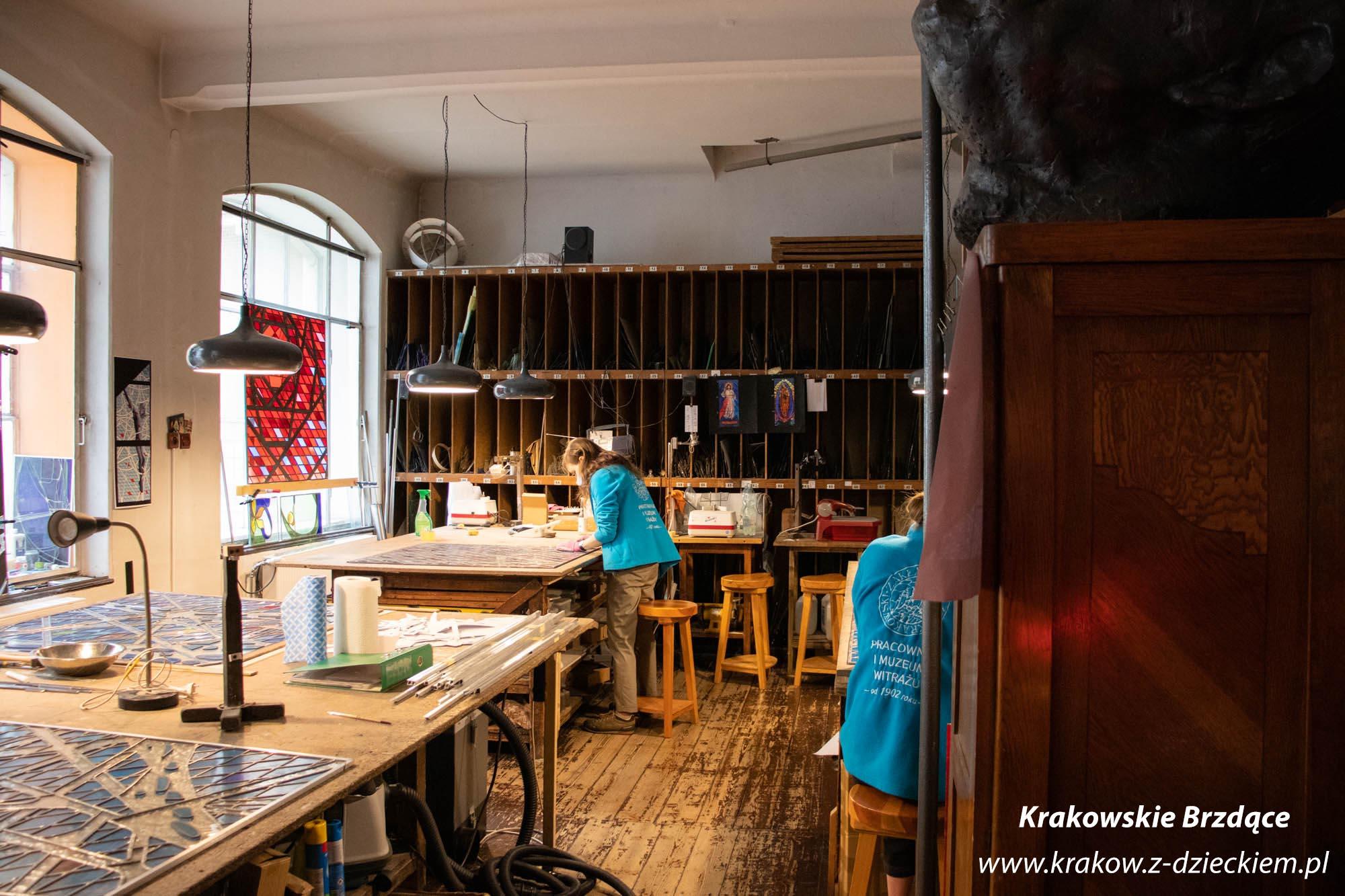 pracownia i muzeum Witrażu w Krakowie