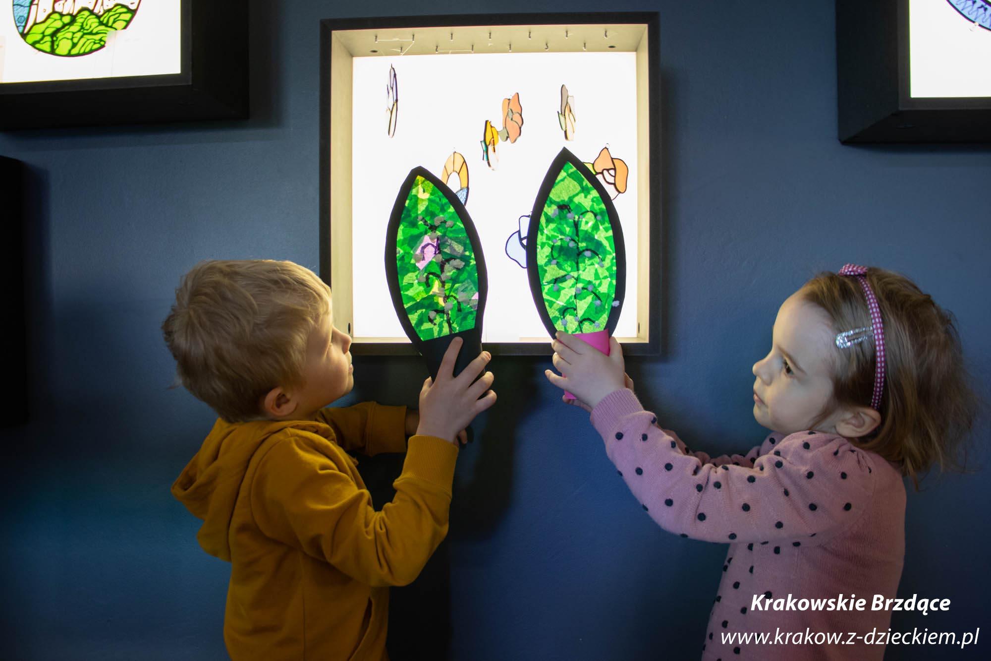 dzieci, warsztaty z witrażu