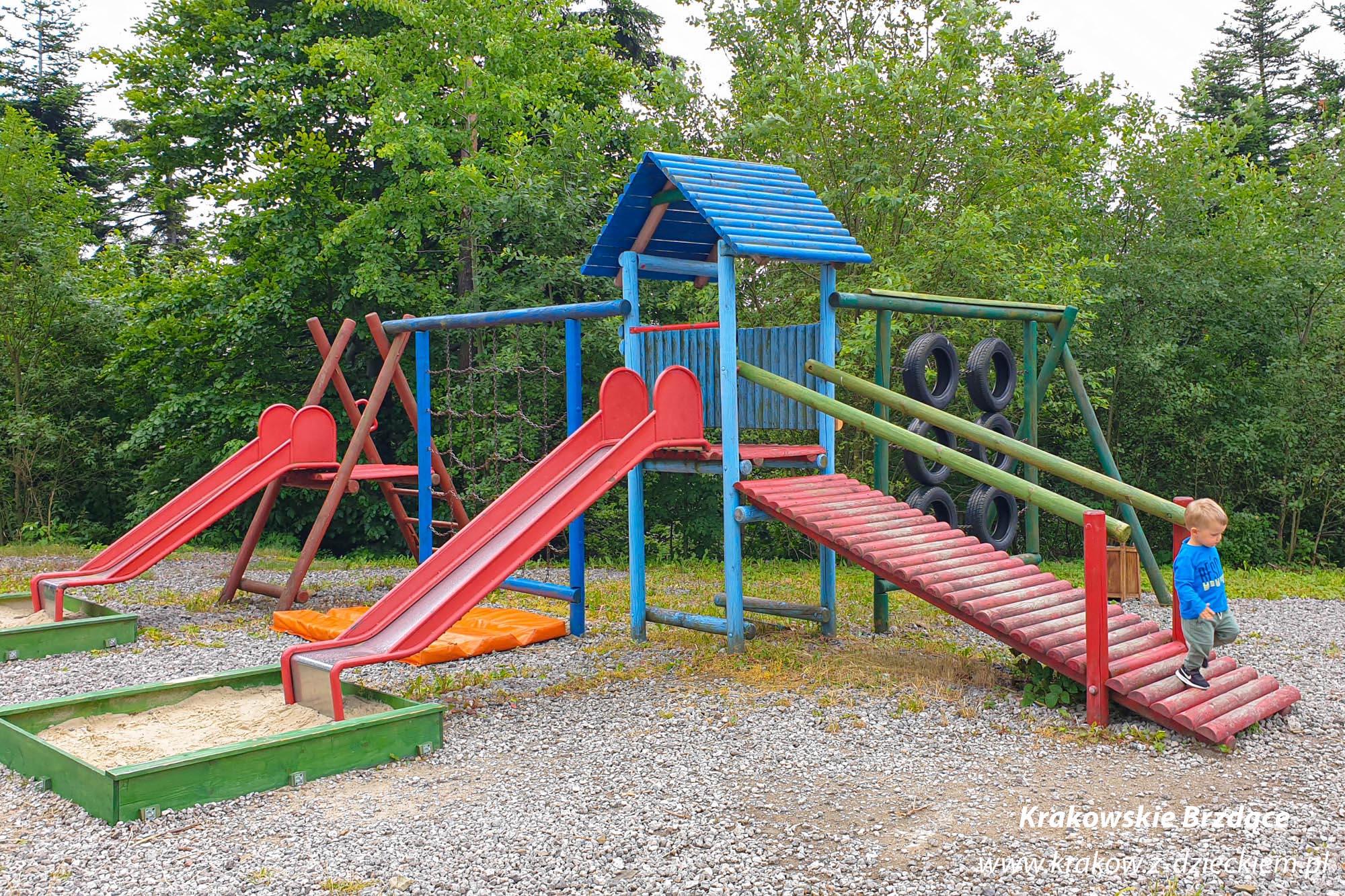 plac zabaw Góra Chełm w Myślenicach