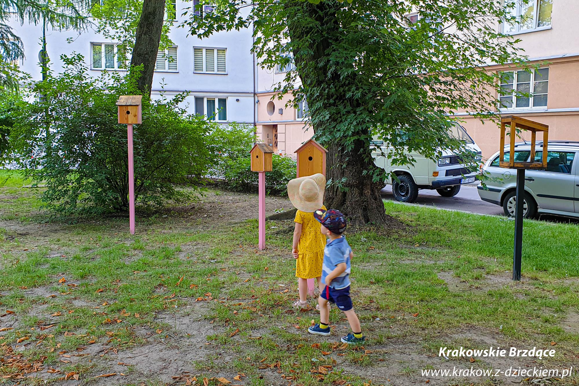 budki dla ptaków, Ptasi Ogród Krakowian