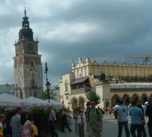 Main Market Square - the location of the Christmas Market in Krakow