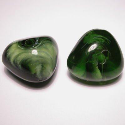 fantasievorm groen gemeleerd 22x23 mm