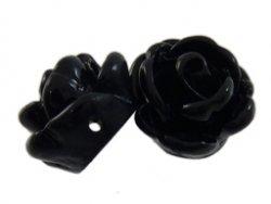 kunststof roosje 9 mm zwart