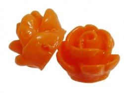 kunststof roosje 9 mm oranje