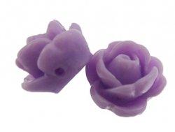 kunststof roosje 9 mm lila