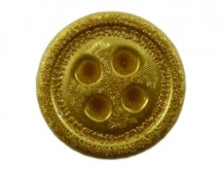 cabochon knoop metallic goud 15mm