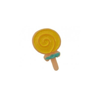 cabochon lollie geel 9x15 mm