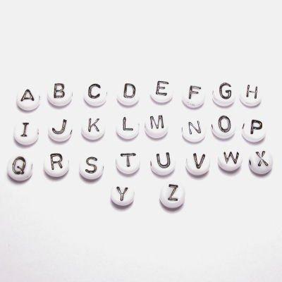 letterkraal wit 7 mm  U