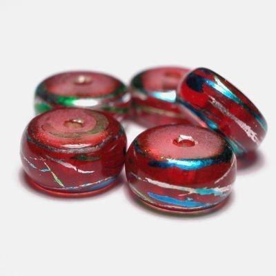 wiel met streep rood 4,5 x 8 mm