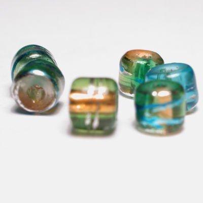 cilinder met streep bruingroen 4x4 mm