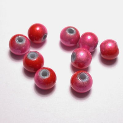 miracle bead rozerood 6 mm