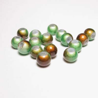 miracle bead groenbruin 6 mm
