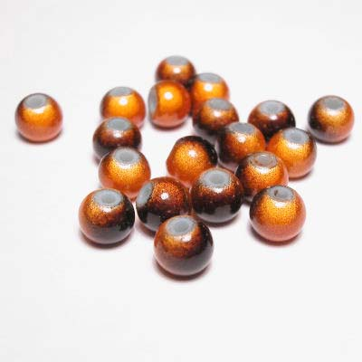 miracle bead bruinoranje 6 mm