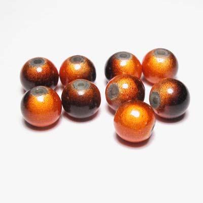 miracle bead bruinoranje 8 mm