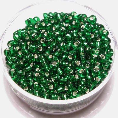 rocailles met zilverkern groen 2,6 mm