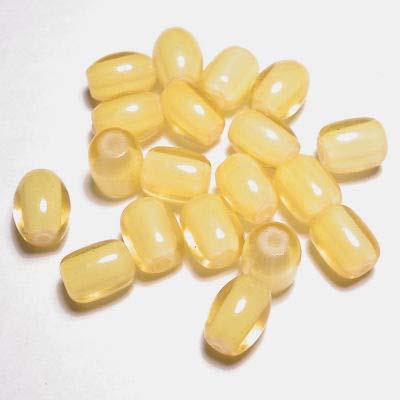 glaskralen mix bright beads geel