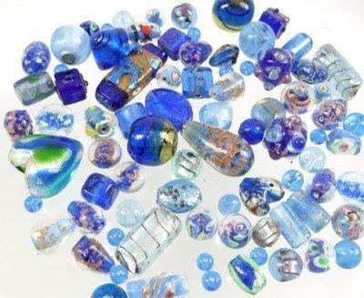 glaskralenmixd.blauw6-30mm