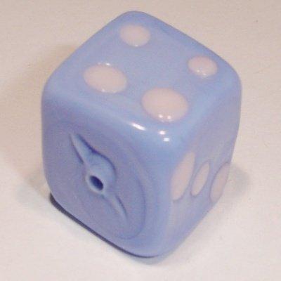 keramiek dobbelsteen blauw 12 mm