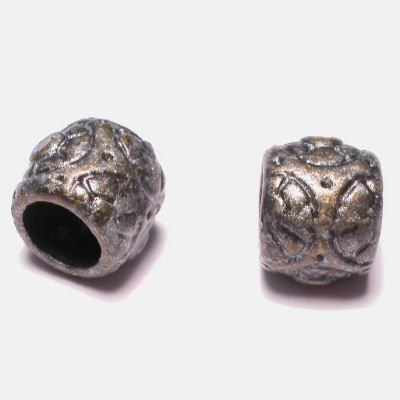 ethnic tonnetje antraciet 8x9 mm
