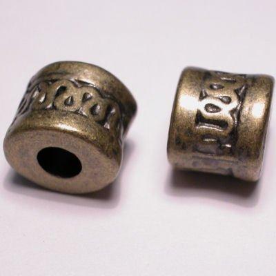 ethnic tonnetje oud goud 11x13 mm