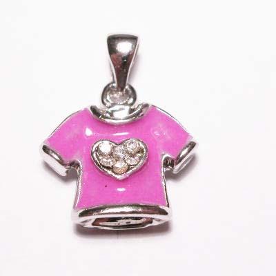emaille hanger t-shirt d.roze 15mm