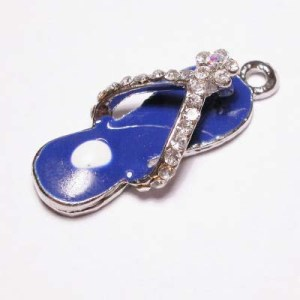 emaille hanger slipper d.blauw 20mm