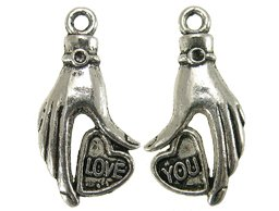 metalen hanger love you 15x31 mm