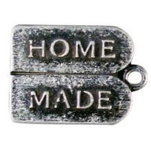 "metalen hanger ""Home Made"" 15x12 mm"