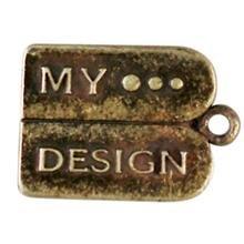 """metalen hanger """"My Design"""" 15x12 mm"""