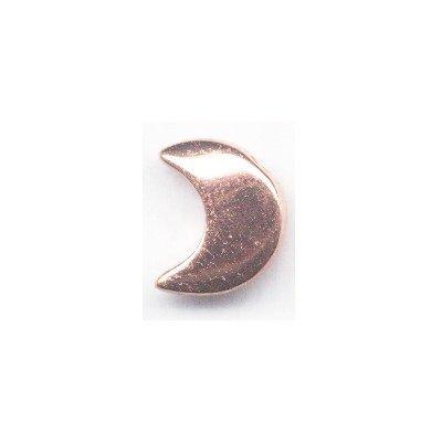 metalen kraal maan 18x15 mm