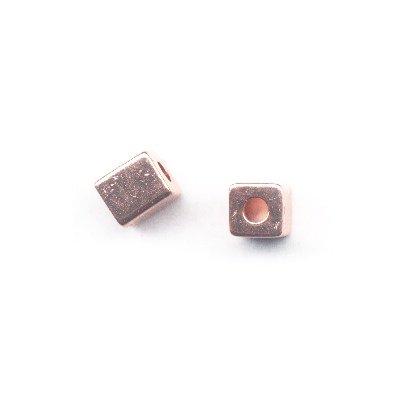 metalen kraal blokje 7x8 mm