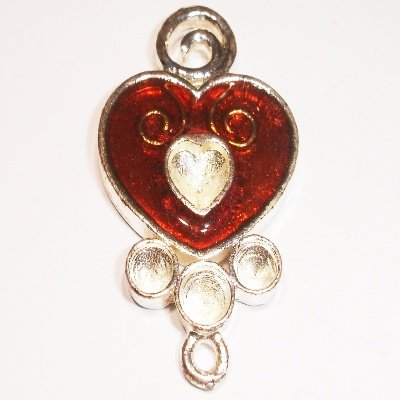 hart rood 35 x 23 mm