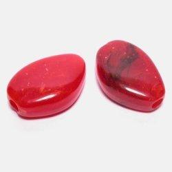 etnisch plat ovaal rood 16x23 mm