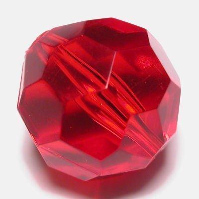 Kraal facet rood 18 mm